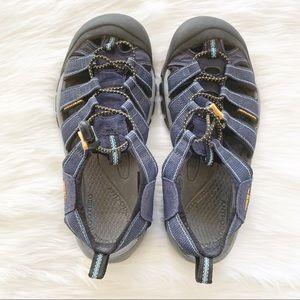 Keen Waterproof Navy Blue/Orange Shoes Boys Sz 7